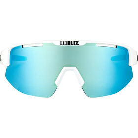 Bliz Matrix M12 Lunettes, shiny white/smoke with blue multi